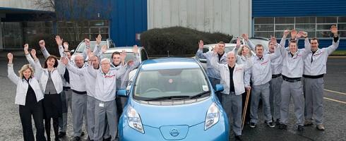 La Nissan LEAF produite à Sunderland